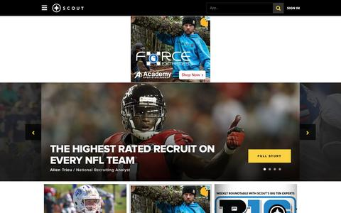 Screenshot of Home Page Login Page scout.com - Scout.com - College Sports, Football Recruiting, NFL, Fantasy Advice & More - captured Sept. 23, 2016