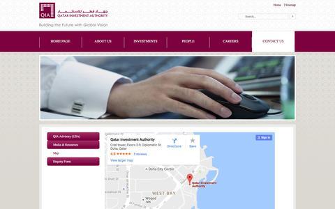 Screenshot of Maps & Directions Page qia.qa - Map - captured Sept. 1, 2016
