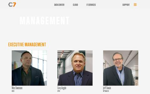 Screenshot of Team Page c7.com - C7 Management - captured July 19, 2014