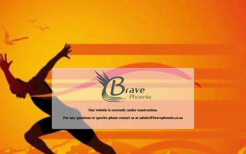Screenshot of Home Page bravephoenix.co.za - Brave Phoenix - running and safety gear - captured Jan. 7, 2016