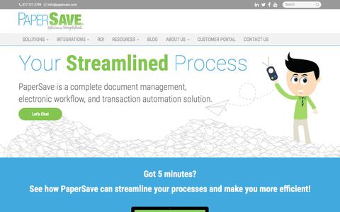 Document Management, Electronic Workflow, Transaction Automation Solution - Miami, Coral Gables, Hialeah | PaperSave