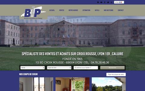 Screenshot of Home Page agence-bip-balland.com - Immobilier Lyon 4eme, Croix Rousse, Caluire et Cuire - captured Oct. 16, 2015