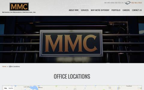 Screenshot of Locations Page metromech.com - Office Locations | Metropolitan Mechanical Contractors, Inc. - captured Oct. 18, 2017
