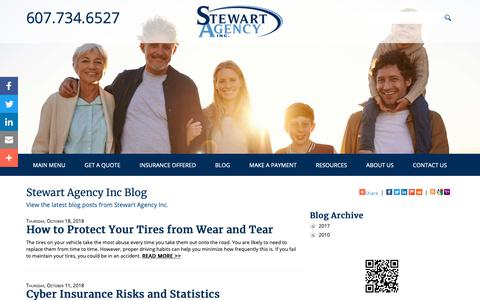 Screenshot of Blog stewartagency.com - Stewart Agency Inc Blog - captured Oct. 18, 2018
