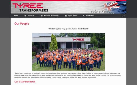 Screenshot of Team Page tyree.com.au - Our People - Tyree Power Transformers Manufacturer - captured Oct. 6, 2014