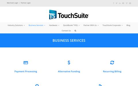 Business Services - TouchSuite - Point of Sale Systems | Merchant Processing Services