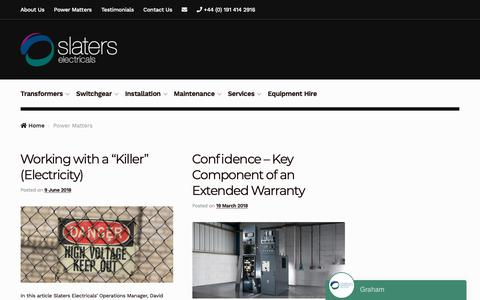 Screenshot of Blog slaters-electricals.com - Power Matters | Official blog of Slaters Electricals - captured Oct. 1, 2018