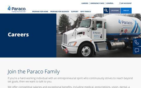 Screenshot of Jobs Page paracogas.com - Careers | paracogas - captured Sept. 26, 2018