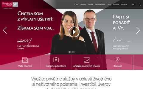 Screenshot of Home Page partnersgroup.sk - Partnersgroup.sk - captured Oct. 1, 2014