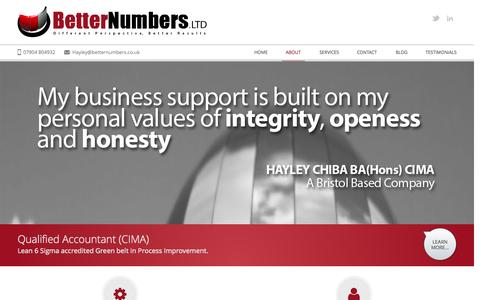 Screenshot of About Page betternumbers.co.uk - About | Better Numbers Ltd - captured Oct. 5, 2014