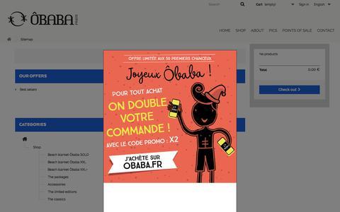 Screenshot of Site Map Page obabaparis.com - Sitemap - OBABA - captured Nov. 18, 2017