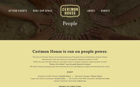 Screenshot of Team Page cerimonhouse.org - People — Cerimon House - captured July 17, 2018
