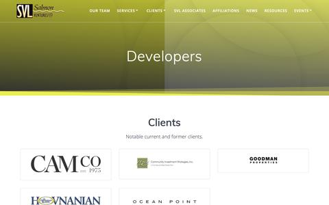 Screenshot of Developers Page salmonventures.com - Developers - Salmon Ventures, Ltd. - captured Oct. 2, 2018