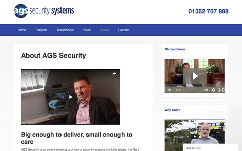 Screenshot of About Page ags-security.co.uk - About us : AGS Security - captured Jan. 25, 2017