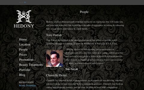 Screenshot of Team Page hedonyhair.com - People | Hedony Hair - captured Oct. 2, 2014