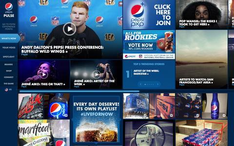 Screenshot of Home Page pepsi.ge - Pepsi Pulse - captured Oct. 4, 2014