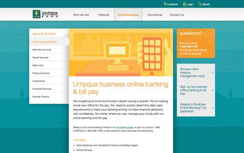 Umpqua Bank business online banking and billpay -- business banking