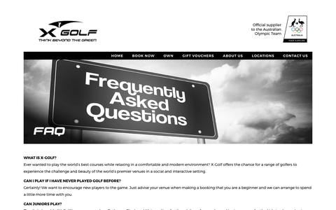 Screenshot of FAQ Page xgolf.com.au - Frequently Asked Questions | X-Golf Indoor Golf Simulator Centres - captured Sept. 28, 2017