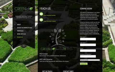 Screenshot of Contact Page green-id.eu - Reach us | GREEN Id - captured Oct. 1, 2014