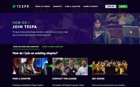 Screenshot of Signup Page tespa.org - Join - Tespa - captured Nov. 19, 2016