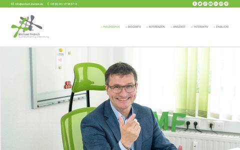 Screenshot of Home Page einfach-klartext.de - Michael Fridrich - Businesstraining & Beratung - captured Jan. 22, 2016