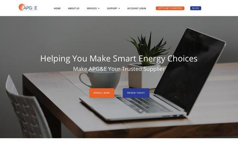 Screenshot of Home Page apge.com - AP Gas & Electric - captured Oct. 2, 2018