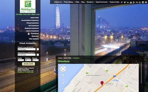 Screenshot of Maps & Directions Page hialbarshadubai.com - Driving Direction to Reach Holiday Inn Dubai - Al Barsha - captured Oct. 2, 2014