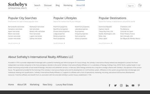 Screenshot of Team Page sothebysrealty.com - Experienced Leadership - Sotheby's International Realty Affiliates LLC - captured Sept. 9, 2019