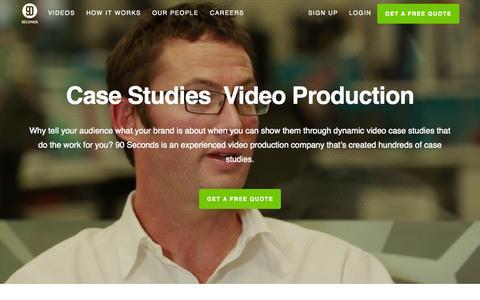 Screenshot of Case Studies Page 90seconds.tv - Case Studies Video Production - 90 Seconds - captured Sept. 30, 2015