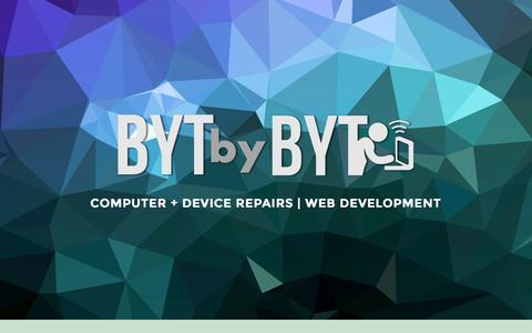 Screenshot of Home Page bytbybyt.com - Computer and Phone Repair Website Design • BYT by BYT - captured June 17, 2015