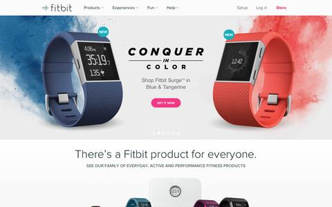 Screenshot of Home Page fitbit.com - Fitbit Official Site for Activity Trackers & More - captured Nov. 19, 2015