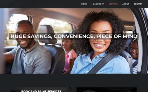Screenshot of Services Page macmembers.com - Services – MAC Members - captured Dec. 16, 2018