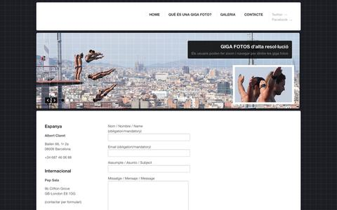 Screenshot of Contact Page gigaphotoproject.es - Contacto | GigaPhoto Agency - captured Oct. 22, 2014