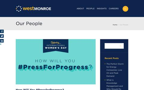Screenshot of Team Page westmonroepartners.com - Our People Archives - The Blend: A West Monroe Partners Blog - captured March 21, 2018
