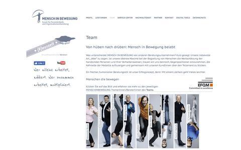 Screenshot of Team Page menschinbewegung.at - Mensch in Bewegung -Team - captured July 27, 2018