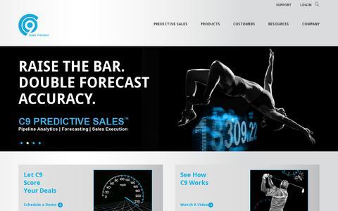 Screenshot of Home Page c9inc.com - C9 Inc. | Sales Precision - captured July 11, 2014