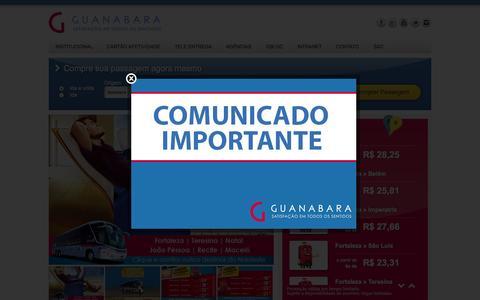 Screenshot of Home Page expressoguanabara.com.br - Compre passagens de ônibus / rodoviárias com os melhores preços - Guanabara - captured Sept. 23, 2014
