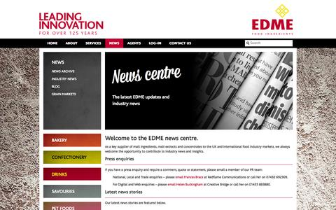 Screenshot of Press Page edme.com - News - EDME - captured Oct. 1, 2014
