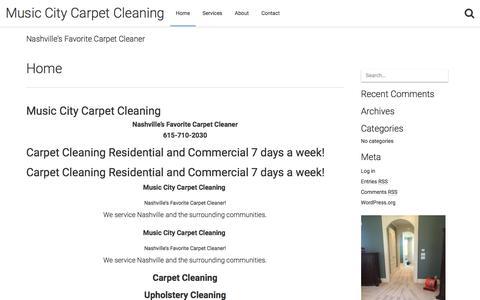 Music City Carpet Cleaning – Nashville's Favorite Carpet Cleaner
