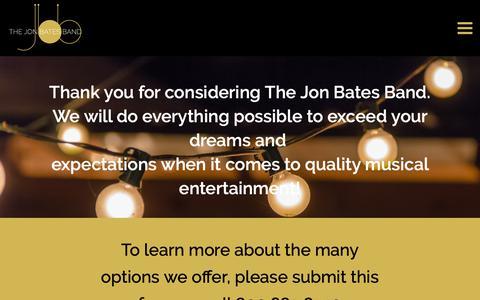 Screenshot of Contact Page jonbates.com - Contact Us - The Jon Bates Band - captured Oct. 31, 2018