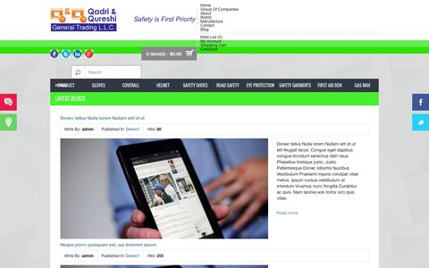 Screenshot of Blog safety1stsafety.com - Latest Blogs - captured Nov. 2, 2014