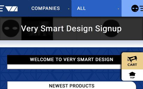 Screenshot of Signup Page verysmartdesign.com - Welcome to Very Smart Design - captured July 13, 2018
