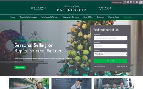 Screenshot of Home Page jlpjobs.com - John Lewis Partnership Careers at Waitrose & Partners or John Lewis & Partners - JLPJobs.com - captured Sept. 27, 2018