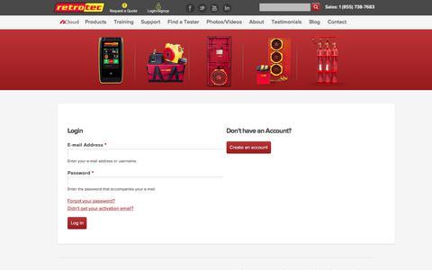 Screenshot of Login Page retrotec.com - | Retrotec - captured Oct. 22, 2017