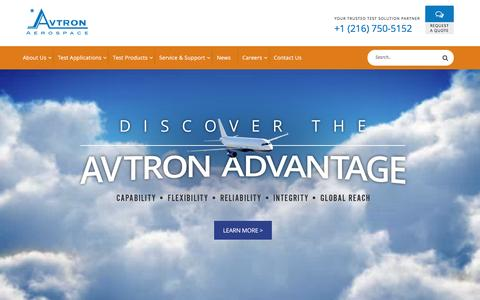 Aircraft Test Equipment | Avtron Aerospace Inc.
