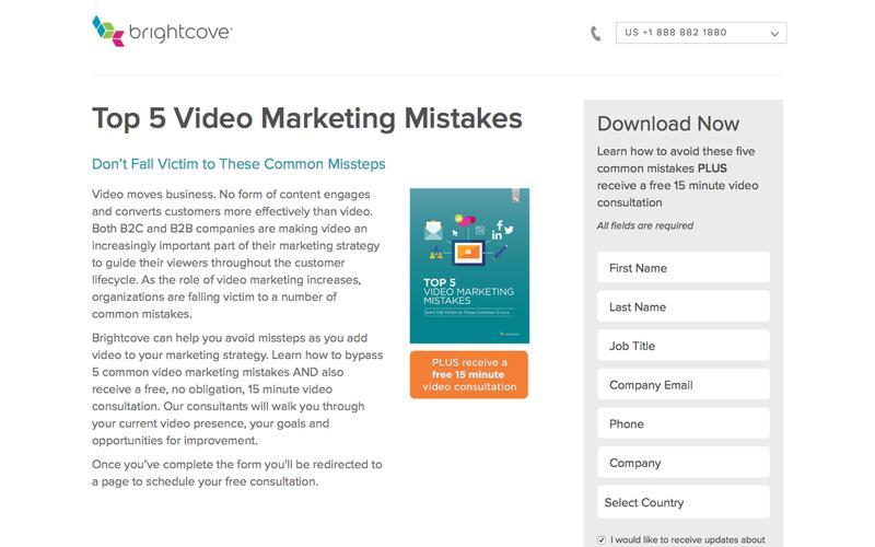 Brightcove |  Top 5 Video Marketing Mistakes