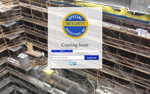 Screenshot of Home Page isiinspections.com - Integrity Special Inspections - captured Oct. 6, 2014