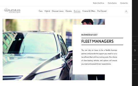 Lexus Fleet Managers | Lexus UK