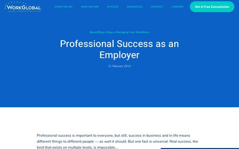 Screenshot of Case Studies Page iworkglobal.com - Professional Success as an Employer   Global Employer of Record & IC Compliance - captured Jan. 23, 2020