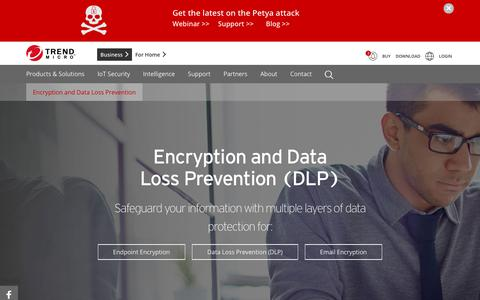 Encryption & Data Loss Prevention   Trend Micro
